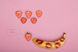 Banana % Strawberries